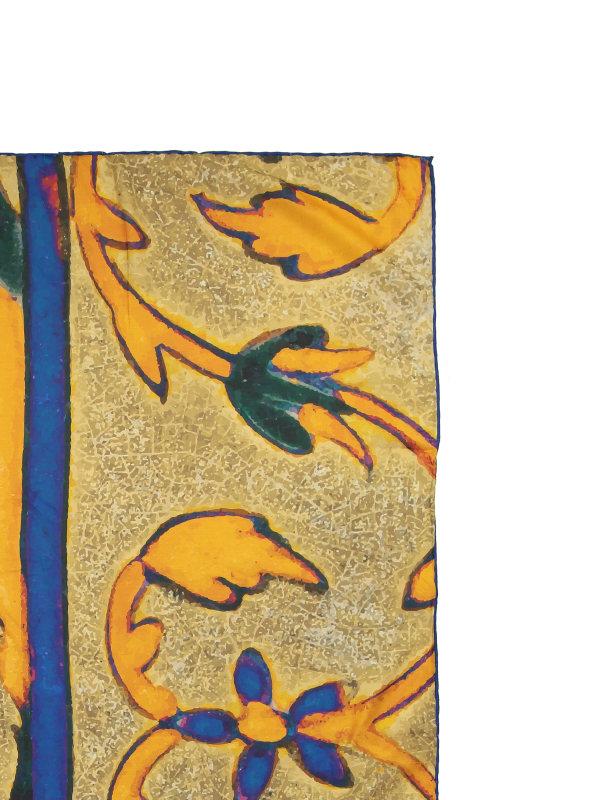روسری طرح دار زنانه مدل گل هندی - ادور