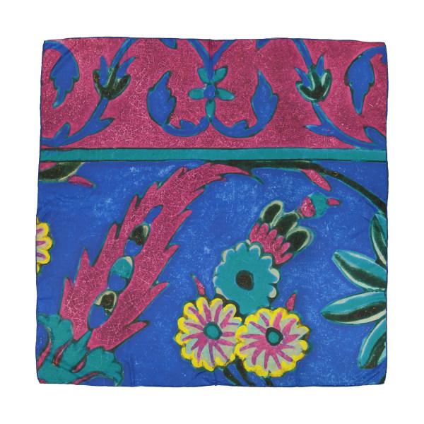 روسری طرح دار زنانه مدل گل هندی - ادور تک سایز
