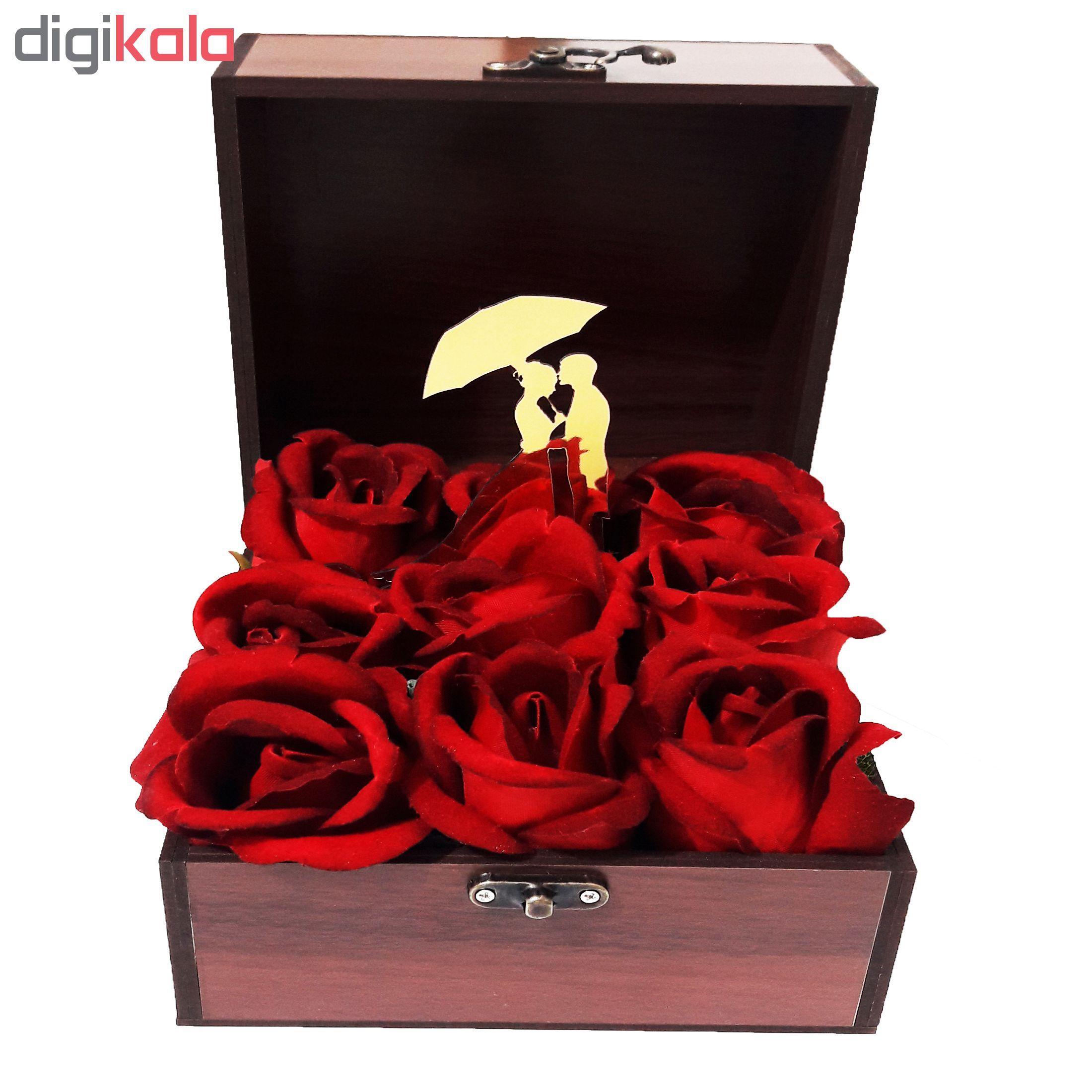 خرید                      جعبه هدیه چوبی کادو آیهان باکس مدل 41