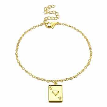 دستبند زنانه طرح قلب کد H001 تک سایز