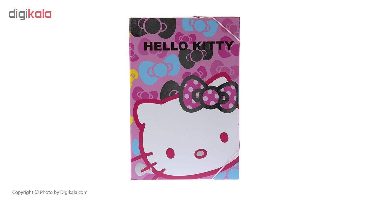 کلاسور کش دار مدل Pink Hello Kitty