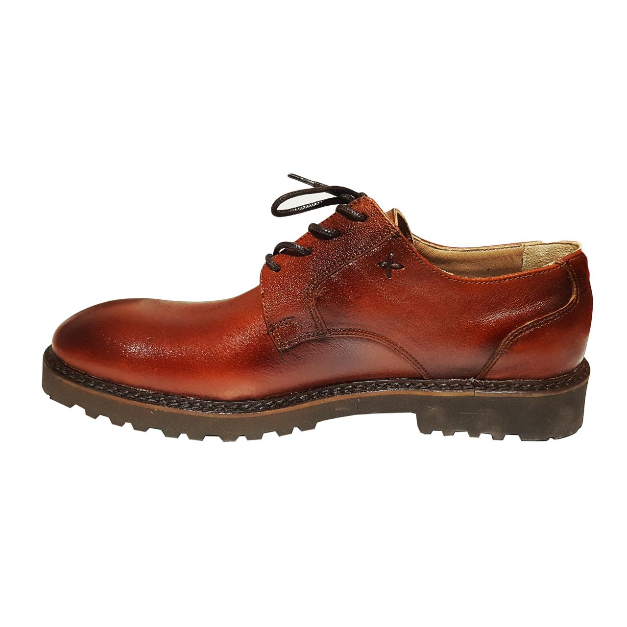 کفش مردانه چرم طبیعی کد 1106-2