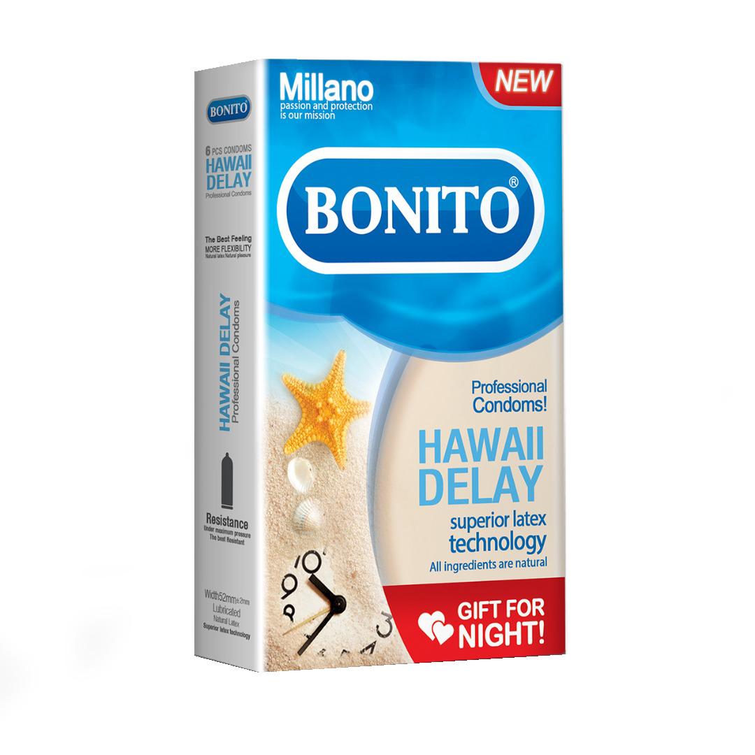 کاندوم بونیتو مدل HAWAI DELAY بسته 6 عددی