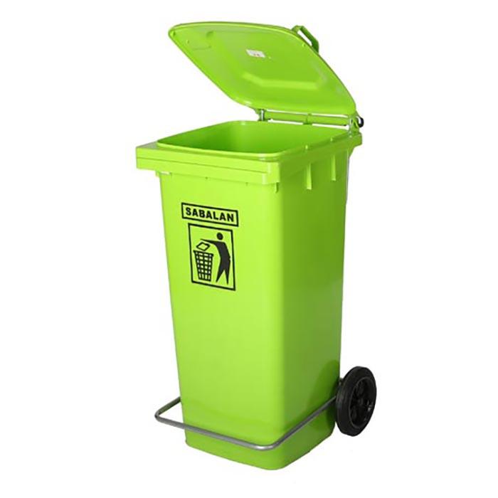 سطل زباله اداری سبلان کد 201/1 ظرفیت 240 لیتر (چرخدار و پدال دار)