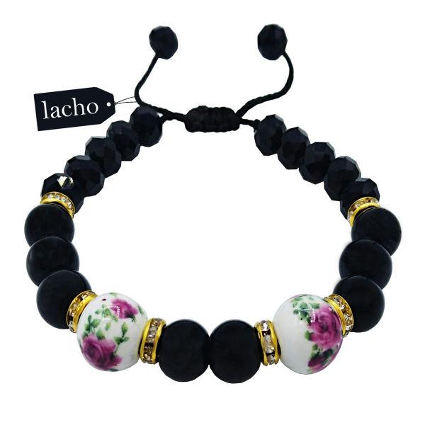 دستبند زنانه لاچو طرح رز کد 5623