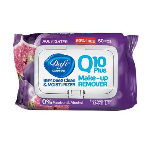 دستمال پاک کننده آرایش دافی مدل AGE FIGHTERING Q10 PLUS بسته 50 عددی thumb