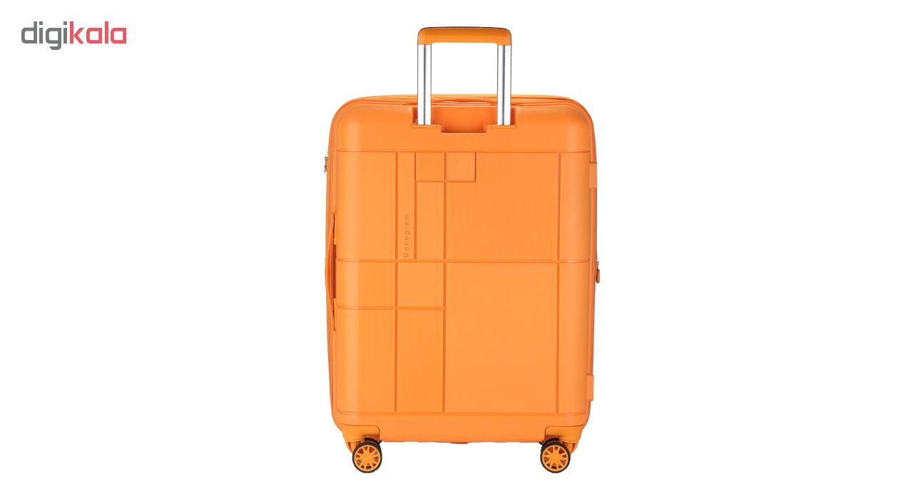 مجموعه سه عددی چمدان اکولاک مدل مونوگرام