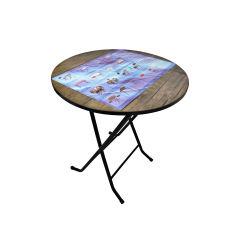 میز خاطره تاشو قطر 60 (ضدخش،تاشو،تنظیم شونده ارتفاع)