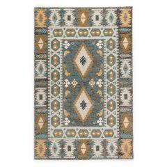 فرش ماشینی فرش ساوین طرح ۴۰۳۶ زمینه آبی