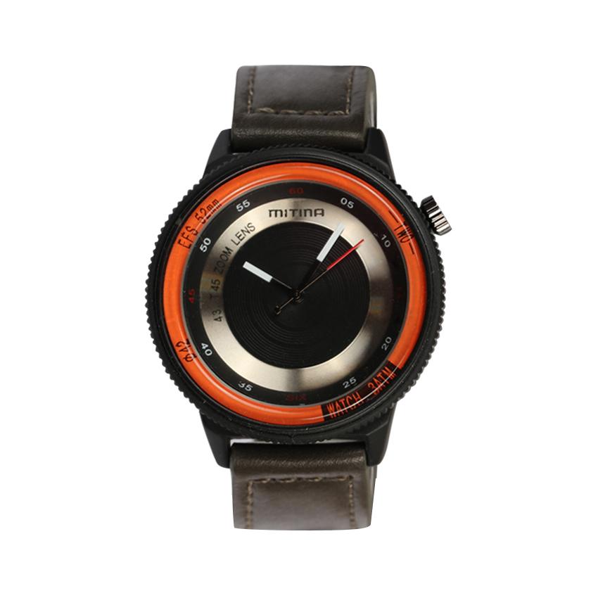 ساعت مچی عقربه ای مردانه می تینا مدل M-866 رنگ نارنجی