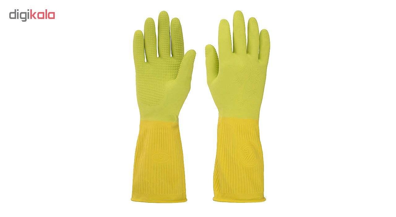 دستکش آشپزخانه ویولت مدل ساق کوتاه سایز M بسته یک جفتی main 1 1