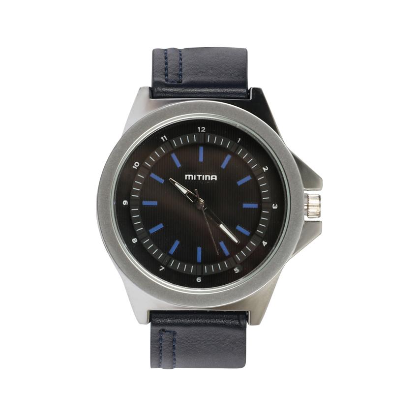 ساعت مچی عقربه ای مردانه می تینا مدل M-806 رنگ سرمه ای