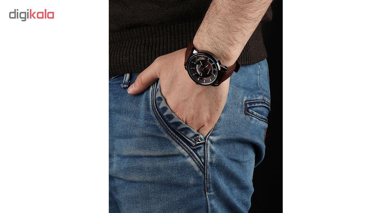 ساعت مچی عقربه ای مردانه می تینا مدل M-826 رنگ قهوه ای