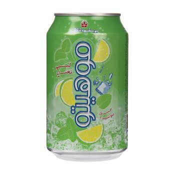 نوشیدنی لیمو گاز دار با طعم نعناع بهنوش مقدار 330 میلی لیتر