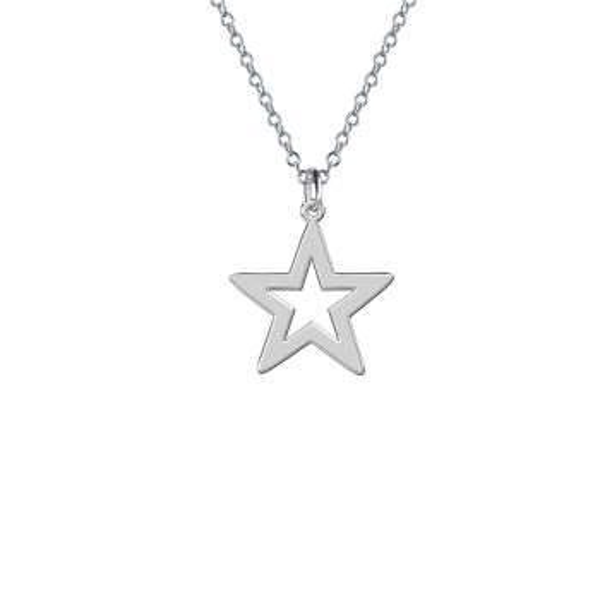 گردنبند نقره زنانه ترمه 1 طرح ستاره کد E545