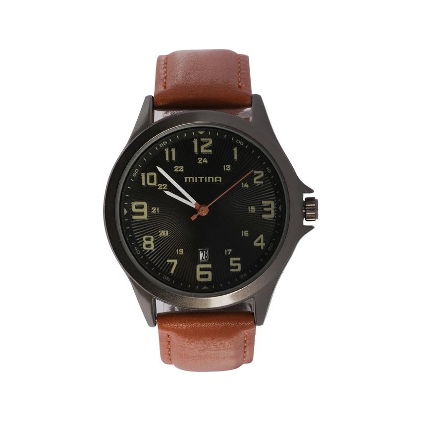 ساعت مچی عقربه ای مردانه می تینا مدل M-858 رنگ قهوه ای