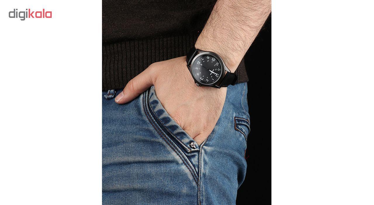 خرید ساعت مچی عقربه ای مردانه می تینا مدل M-858 رنگ مشکی