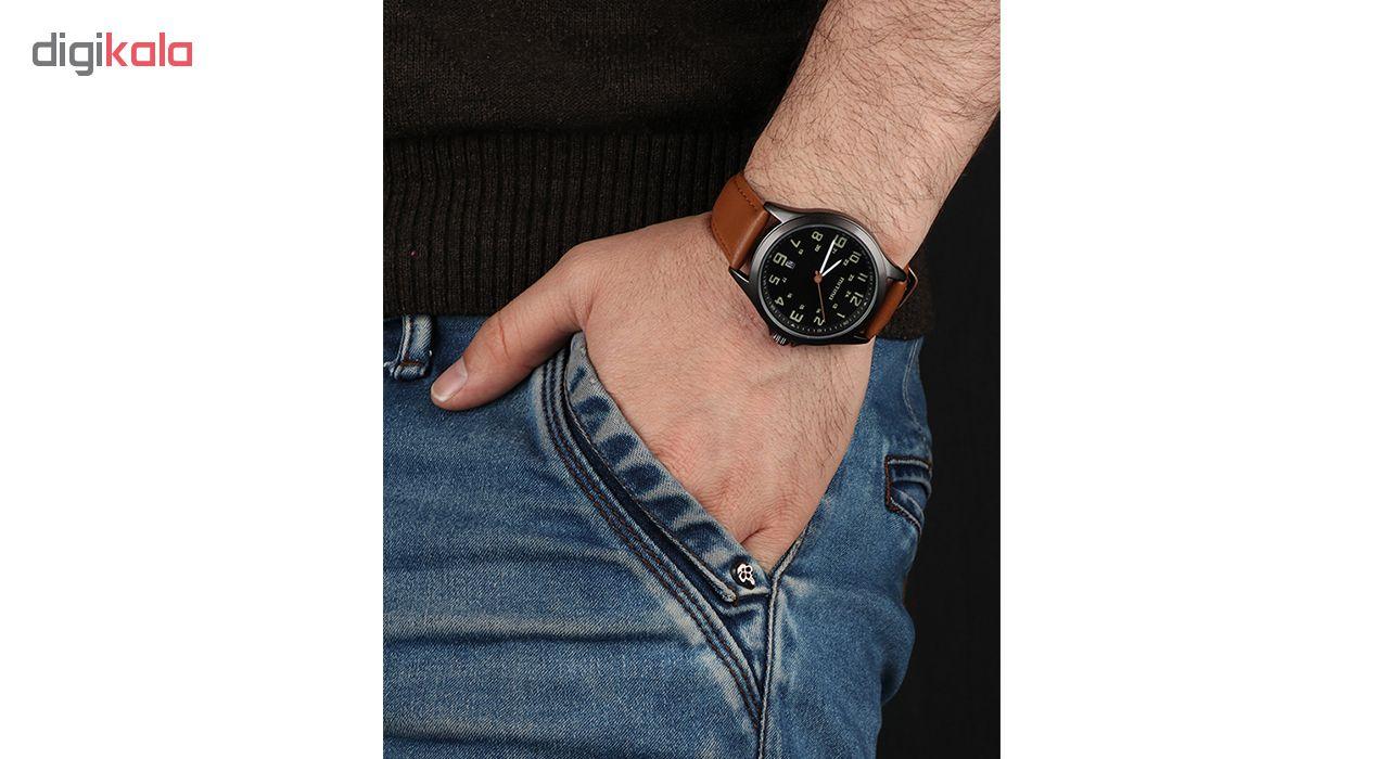 خرید ساعت مچی عقربه ای مردانه می تینا مدل M-858 رنگ قهوه ای