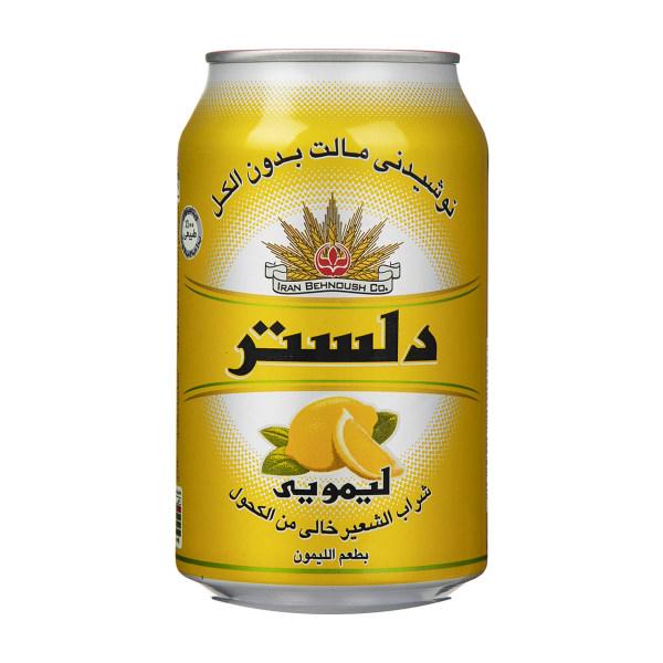 نوشیدنی مالت لیمویی دلستر وزن 330 میلی لیتر