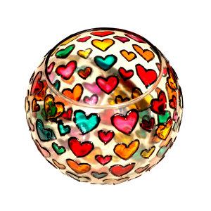 جا شمعی شیشه ای طرح قلب کد 102