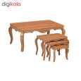 میز جلو مبلی  نگین مدل classic 010 به همراه میز عسلی مجموعه 4عددی  thumb 4