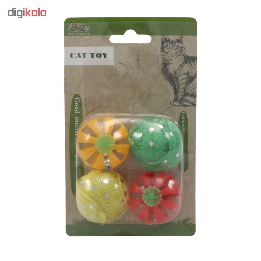 خرید                      اسباب بازی گربه الیت مدل Fruit Balls مجموعه 4 عددی
