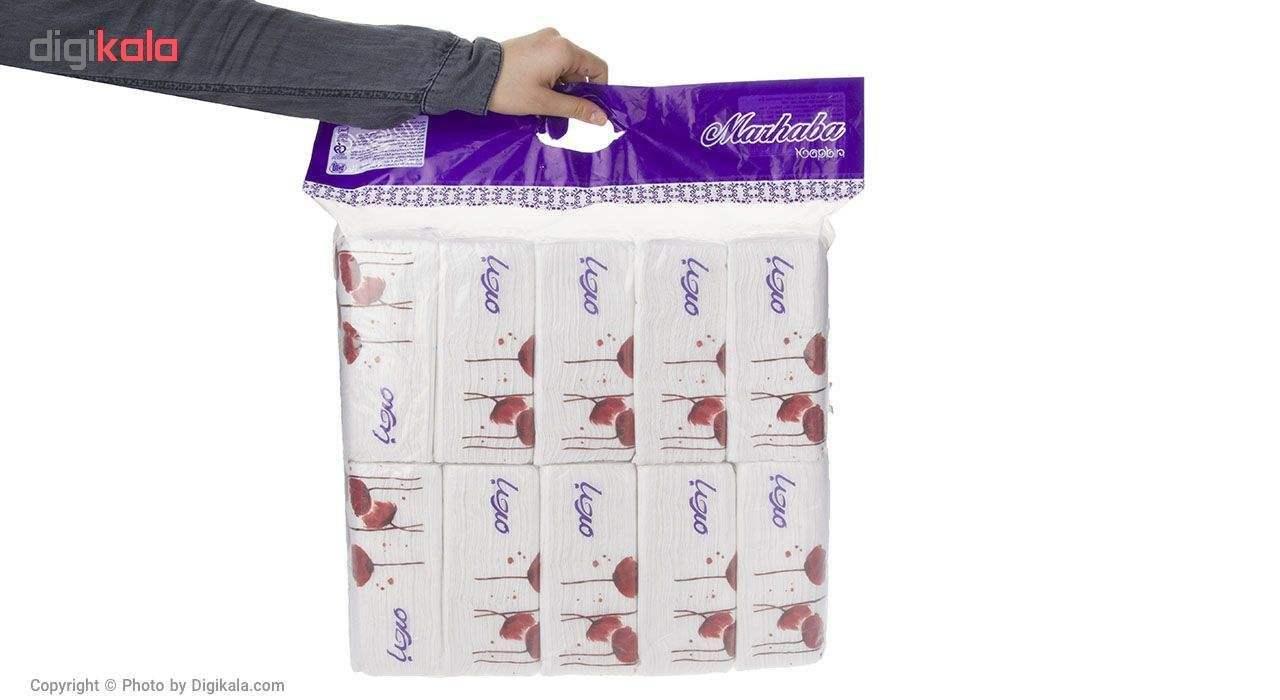 دستمال کاغذی 100 برگ مرحبا مدل White بسته 10 عددی main 1 3