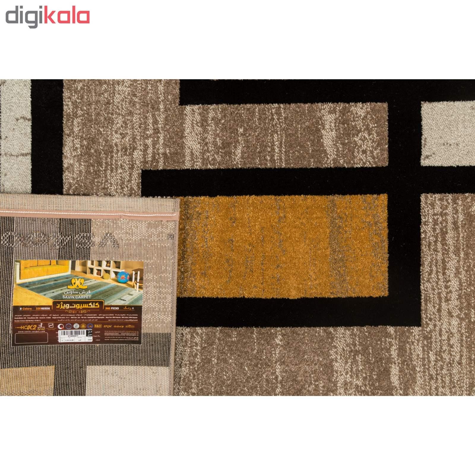 فرش ماشینی فرش ساوین طرح ۴۰۰۴ زمینه کرم main 1 3