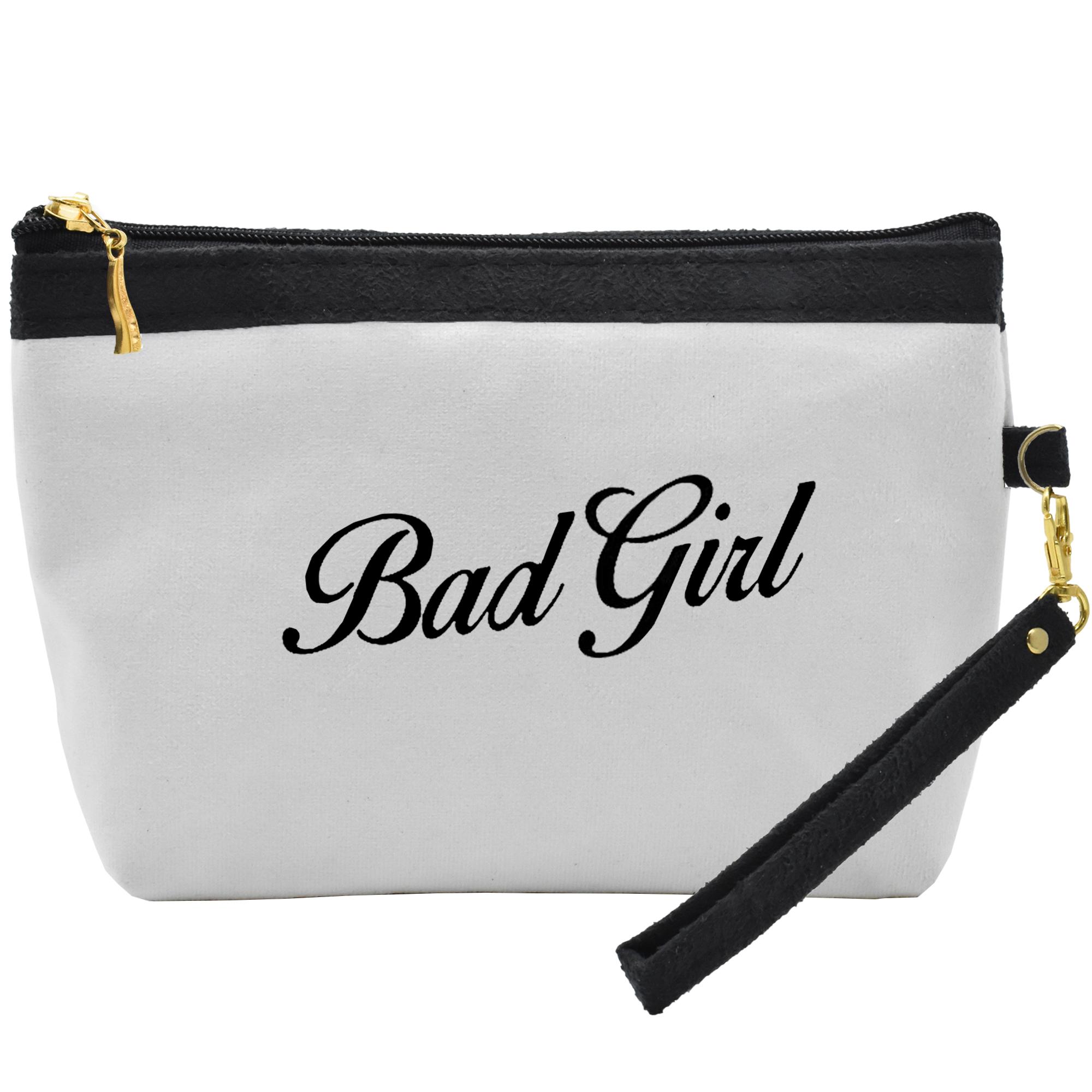 کیف لوازم آرایشی طرح Bad Girl کد C41