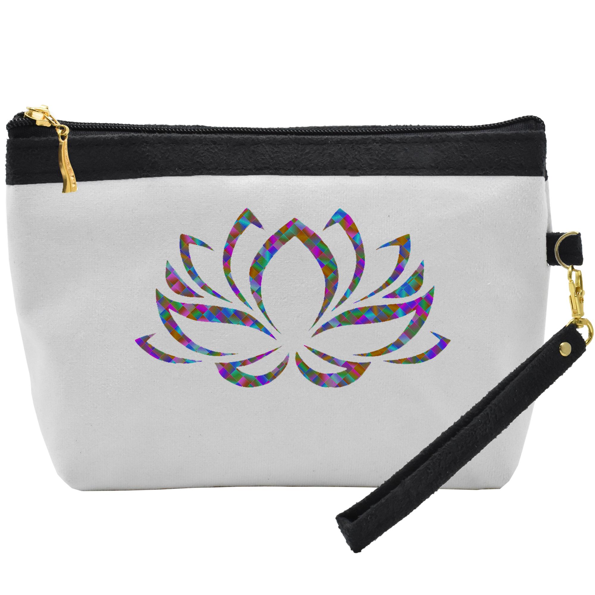 کیف لوازم آرایشی طرح colorful Flower  کد C42