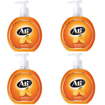 مایع دستشویی آتی مدل Orange وزن 500 گرم بسته 4 عددی