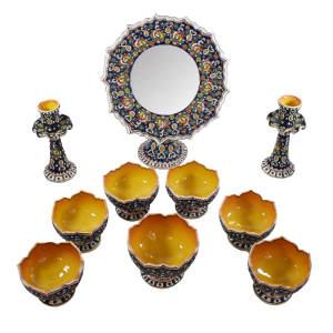 مجموعه ظروف هفت سین 10 پارچه طرح میناکاری کد 1454175