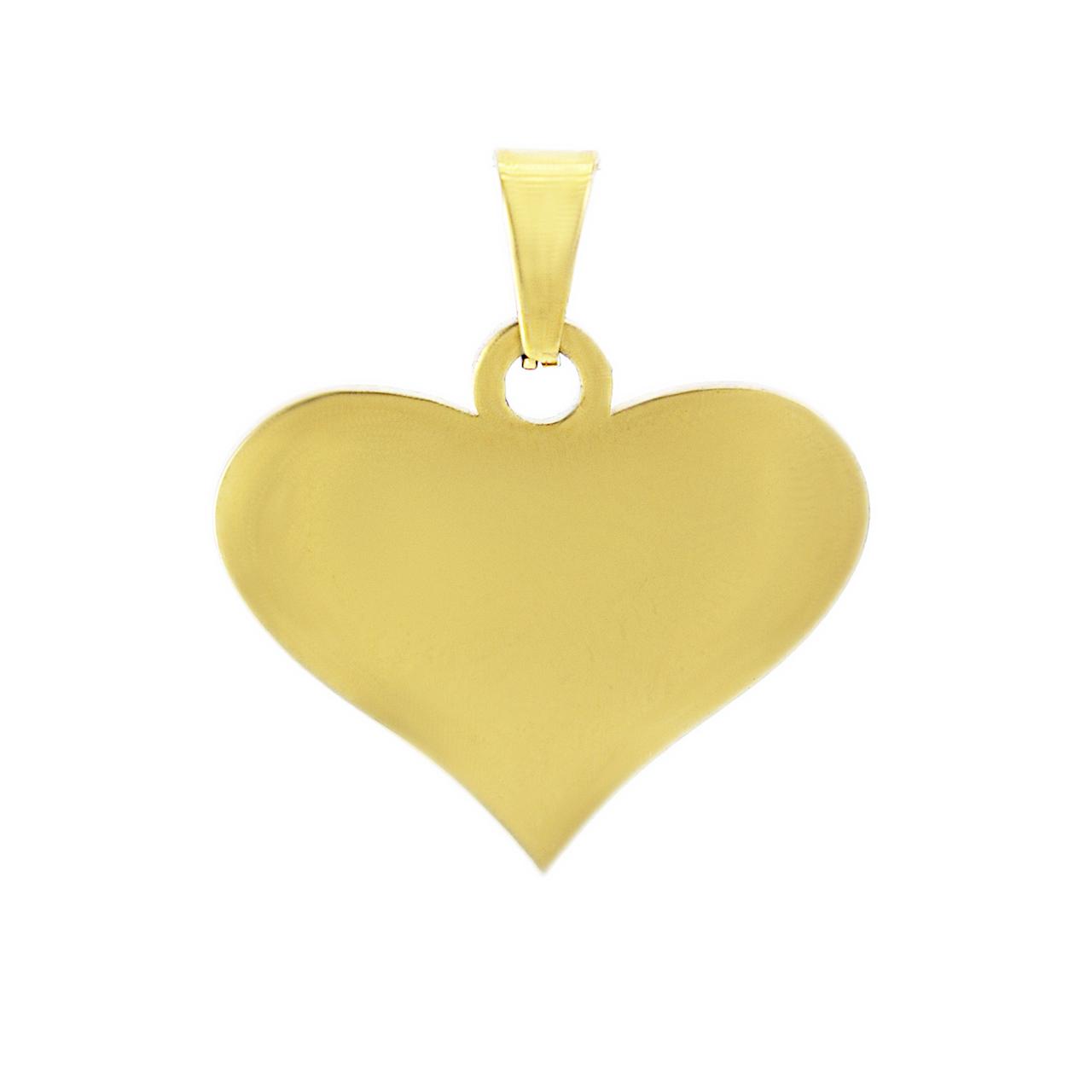 آویز گردنبند طلا 18 عیار جواهری میکا طرح قلب کد 0110001