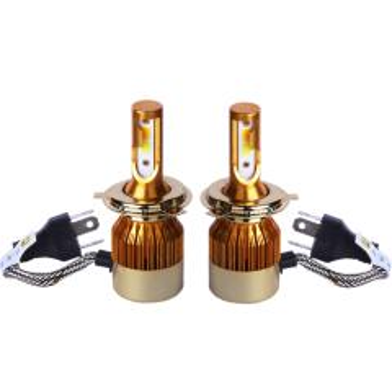 خرید اینترنتی هدلایت لامپ خودرو D5 مدل H4 دورنگ بسته ۲عددی