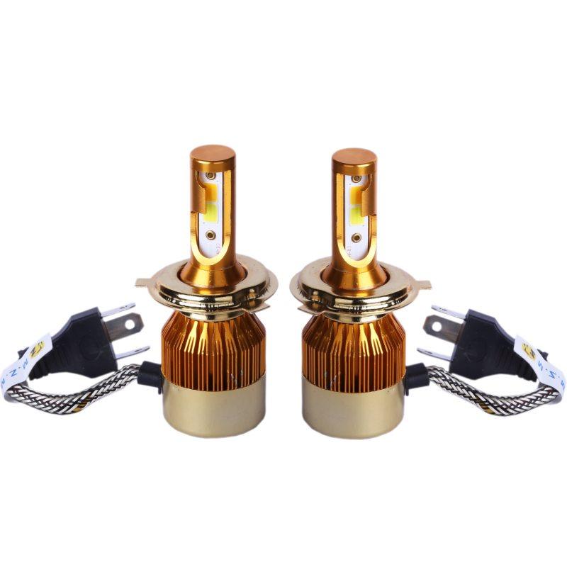 هدلایت لامپ خودرو D5 مدل H4 دورنگ بسته ۲عددی