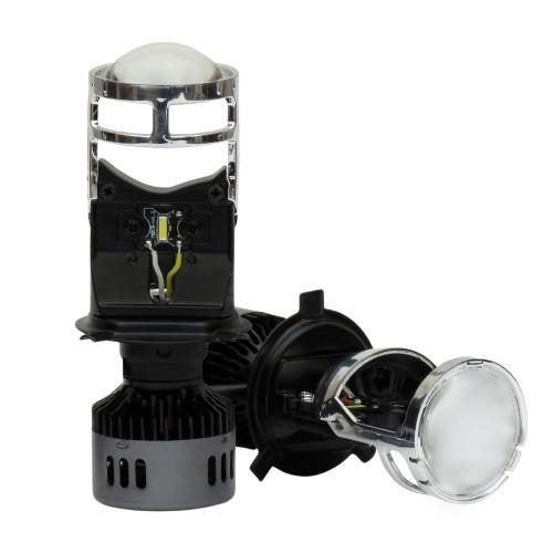 لامپ هدلایت خودرو مدل H4 لنز دار بسته دو عددی