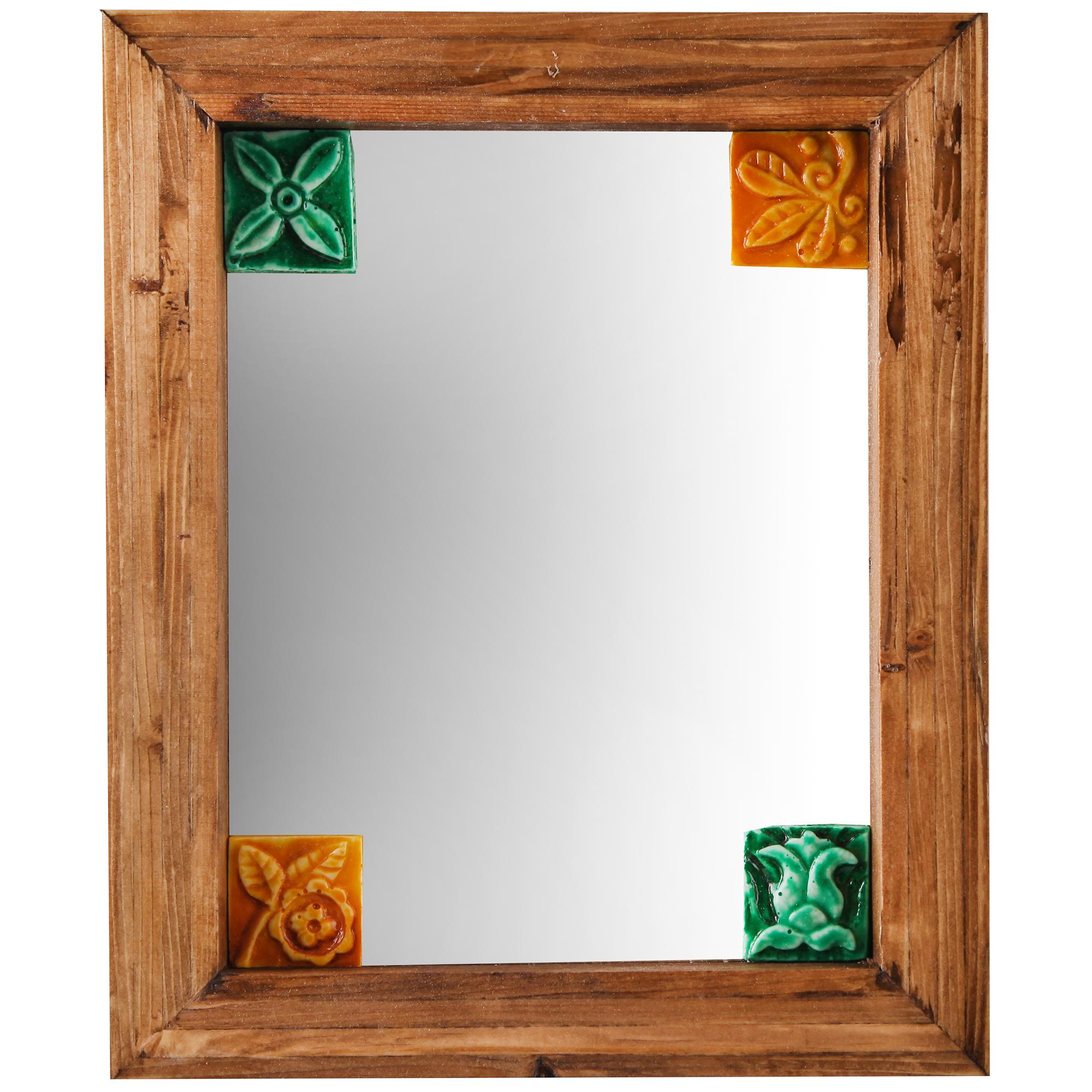 آینه چوبی رومیزی گالری پارسا آرا مدل چهار خشت کد 312020