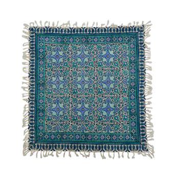 روميزي قلمكار ممتاز اصفهان اثر عطريان طرح رها مدل G159 سايز80*80 سانتي متر