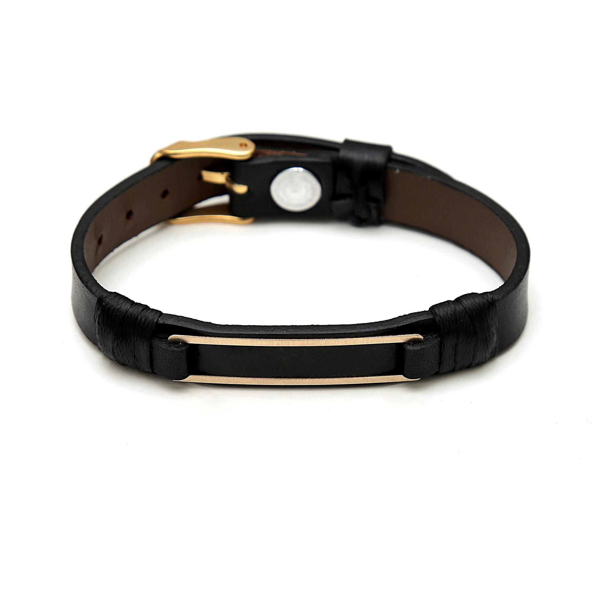 دستبند طلا ۱۸ عیار مدیاگلد مدل MGL-D0206