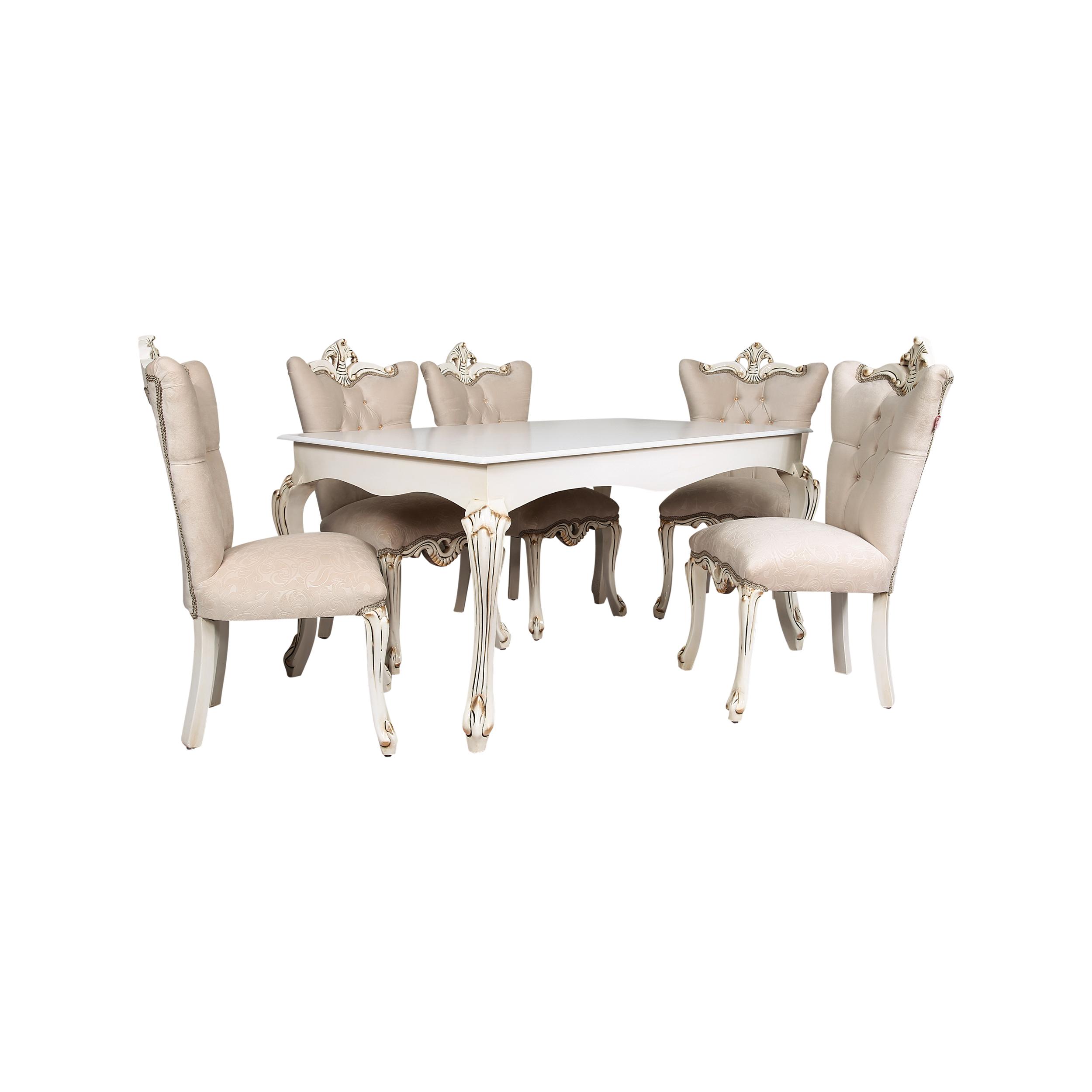 ست میز و صندلی ناهارخوری 6 نفره کد 2