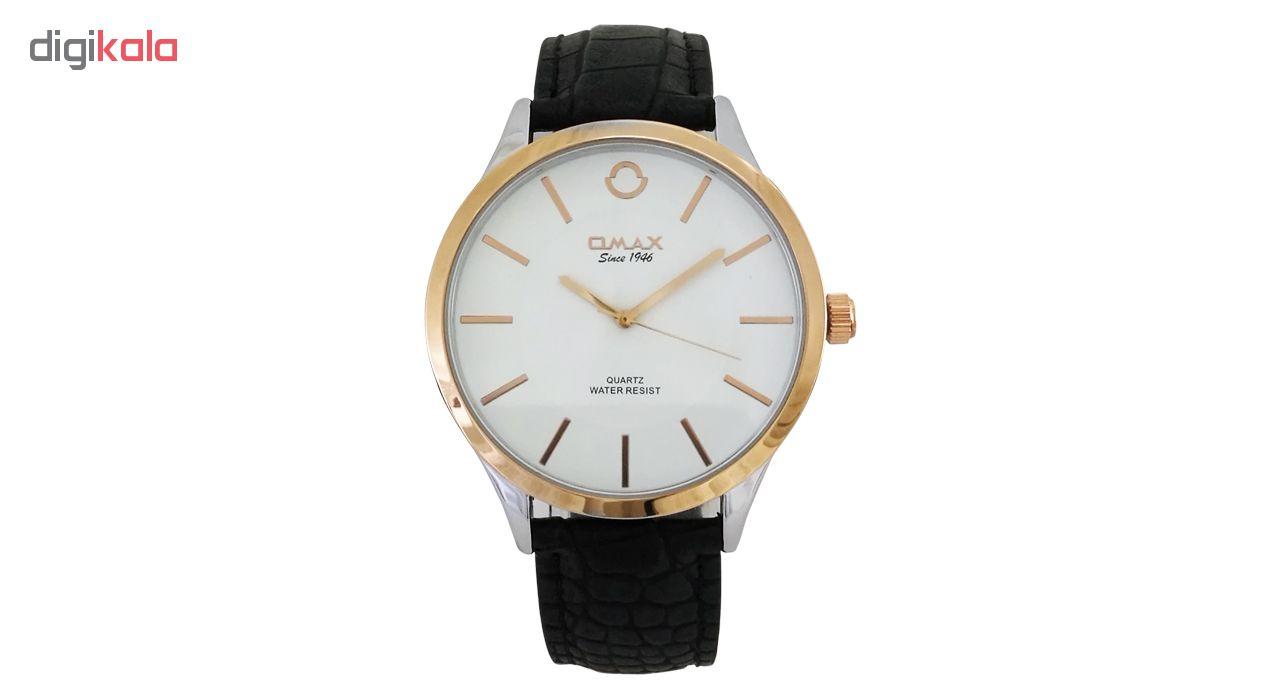 خرید ساعت مچی عقربه ای مردانه اوماکس مدل RP0005 به همراه دستمال مخصوص برند کلین واچ