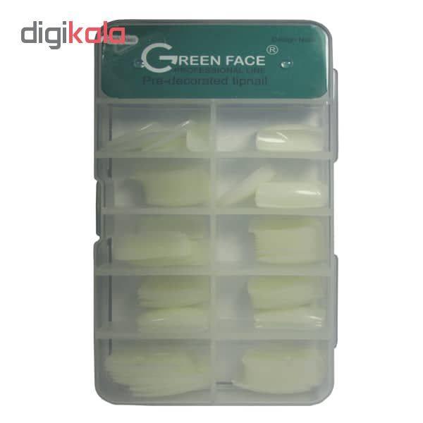 ناخن مصنوعی گرین فیس مدل N003 بسته 100 عددی