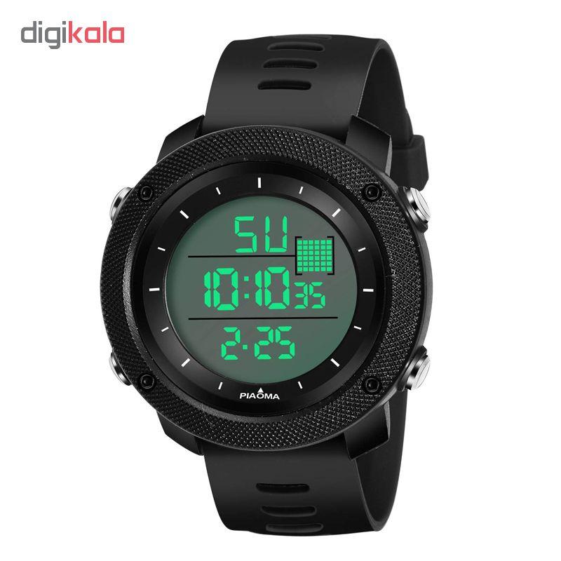 کد تخفیف                                      ساعت مچی دیجیتال مردانه پیااوما مدل B2804-BL