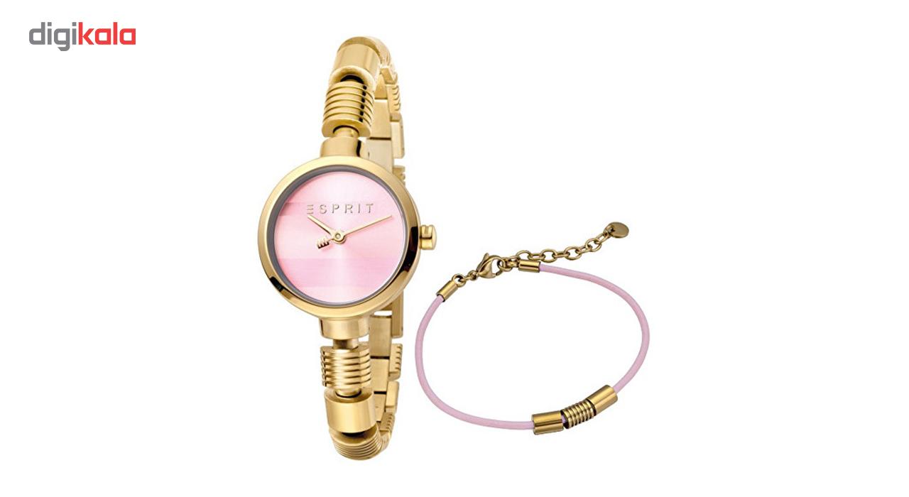 خرید ست دستبند و ساعت مچی عقربه ای زنانه اسپریت مدل ES1L017M0055
