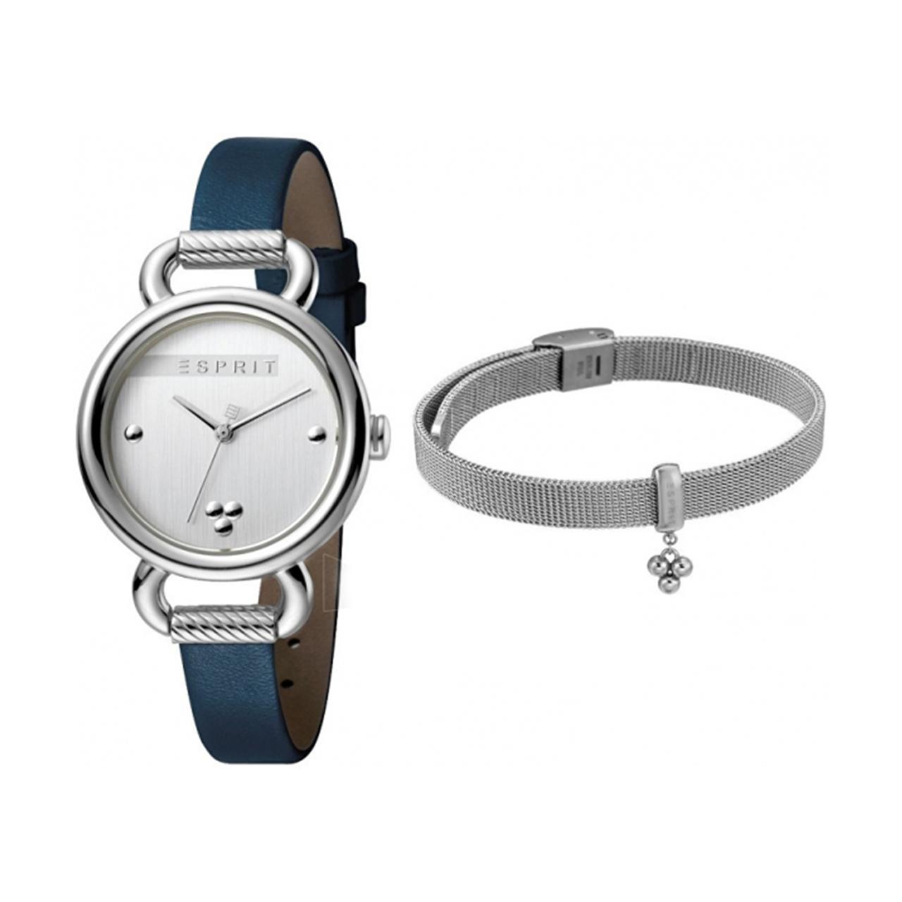 ست دستبند و ساعت مچی عقربه ای زنانه اسپریت مدل ES1L023L0015