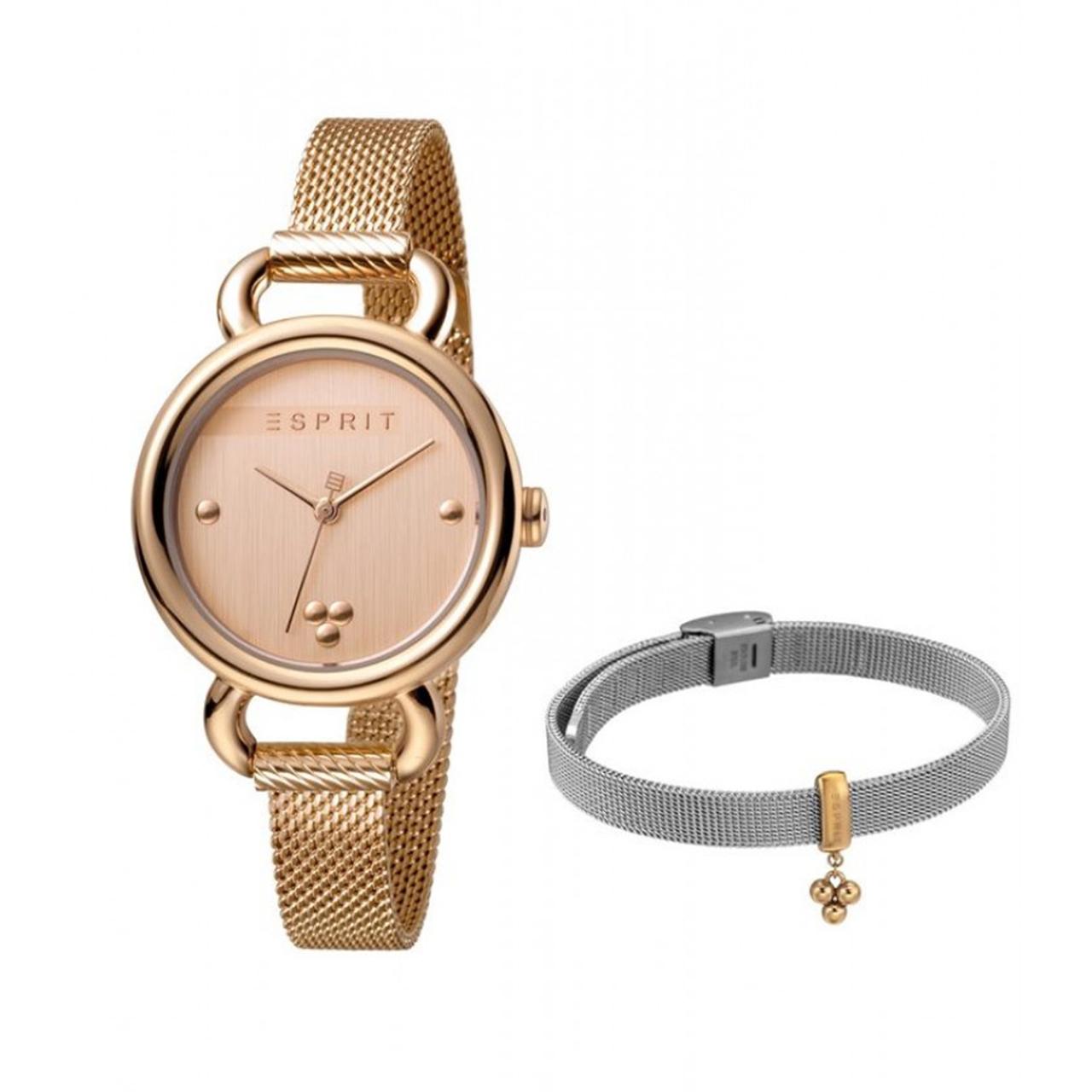 خرید ست دستبند و ساعت مچی عقربه ای زنانه اسپریت مدل ES1L023M0065
