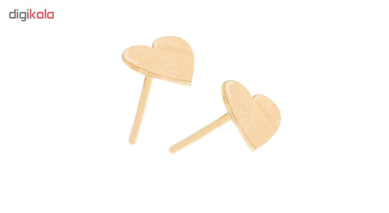 خرید                                      گوشواره طلا 18 عیار گالری فرنود طرح قلب مدل ES11