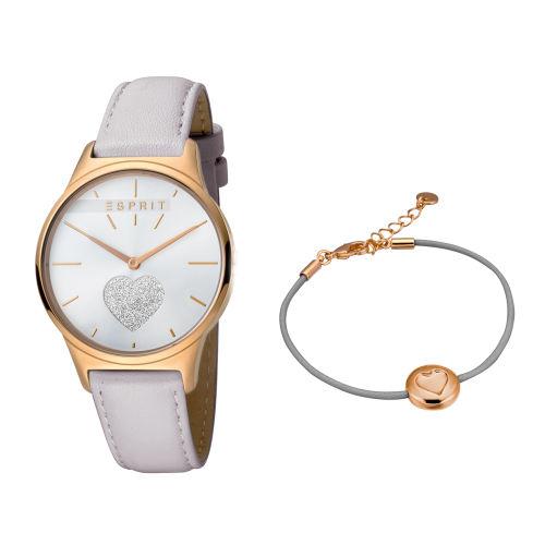 ست دستبند و ساعت مچی عقربه ای زنانه اسپریت مدل ES1L026L0215
