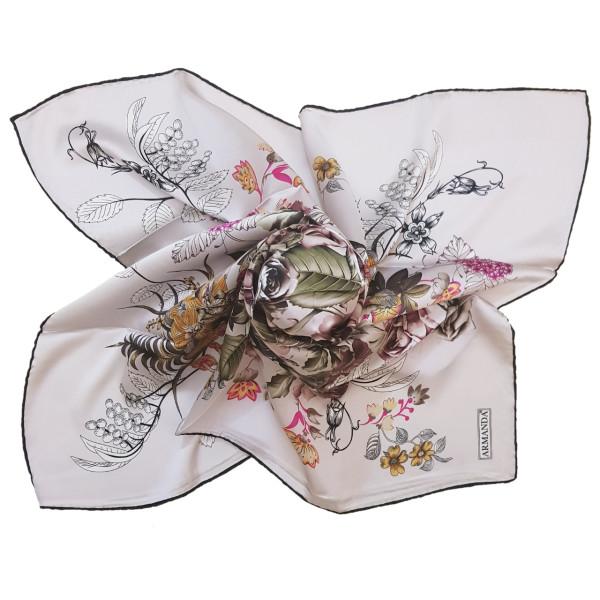 روسری زنانه آرماندا طرح گل کد RD90125 سایز M