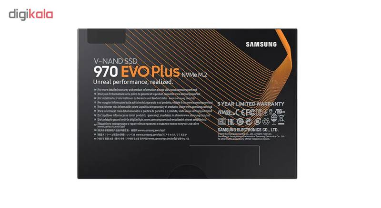 اس اس دی اینترنال سامسونگ مدل 970EVO PLUS ظرفیت 250 گیگابایت main 1 3